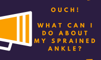 Sprained ankle Blog by Phoebe Machin