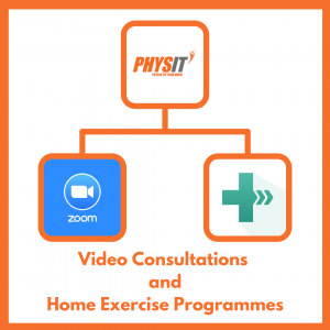 What to expect from a video consultation and home exercise programme (HEP) with your Therpaist at Physit